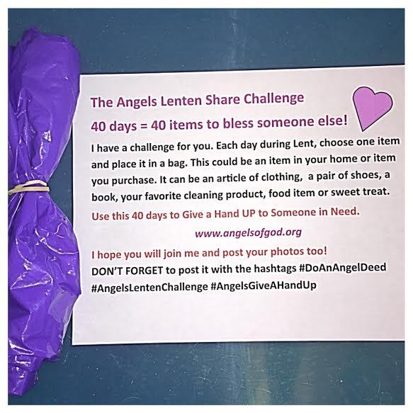 The Angels Lenten Share Challenge 2017