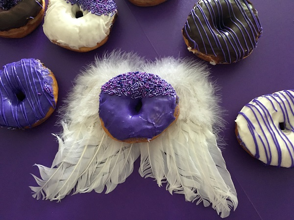 Eat a PURPLE DONUT and SUPPORT The Angels Outreach!